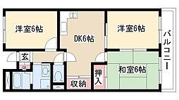 愛知県日進市浅田町笹原の賃貸アパートの間取り