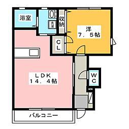 ルミエール和田[1階]の間取り