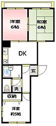 ヒデパレス[2階]の間取り