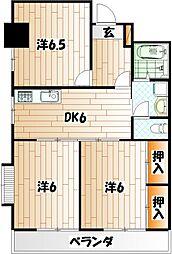 富野レジデンス[3階]の間取り