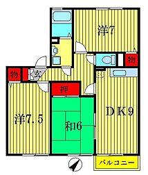 エクセルハイムII[1階]の間取り