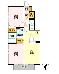 いちごハウスII[1階]の間取り