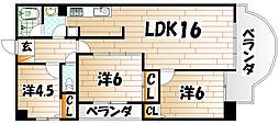 レスポアール麻生[3階]の間取り
