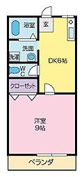 ハイツKSI[102号室]の間取り