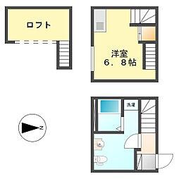 ラ・アンジェ栄生[2階]の間取り