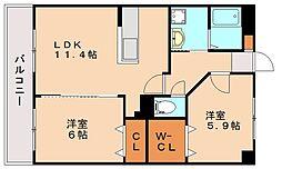 ビラコースト[3階]の間取り