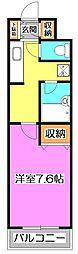 東京都練馬区東大泉1丁目の賃貸マンションの間取り