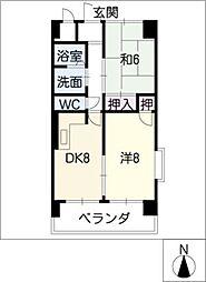シャトーレ・シン[3階]の間取り