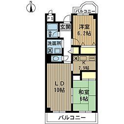 グレイスケヤムラ[203号室]の間取り