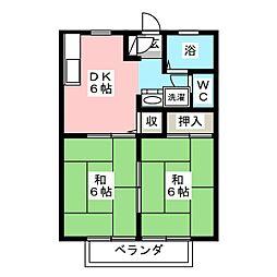 サンシティ三ッ井[2階]の間取り