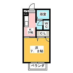 サザンウィング[2階]の間取り