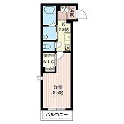レクエル小豆沢 North Court[2階]の間取り