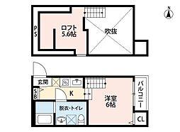 カーサ・エスペランサ田島[2階]の間取り