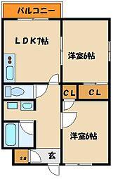 兵庫県神戸市西区王塚台1の賃貸マンションの間取り