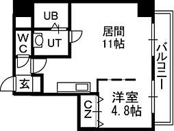 セルベッサ札幌レジデンス[703号室]の間取り