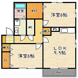 レークタウンD棟[2階]の間取り