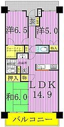 クレサージュ松戸六高台[4階]の間取り