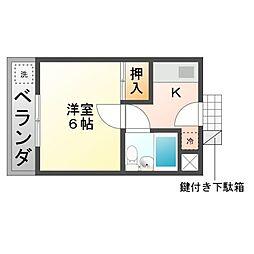 Comfort HiroseI[3階]の間取り
