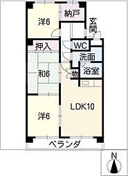 ファミール小幡[3階]の間取り