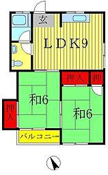 サンハウス(小金原)[2階]の間取り