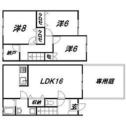 [テラスハウス] 静岡県浜松市中区高丘東5丁目 の賃貸【/】の間取り