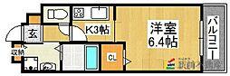 ルート3&カーサⅠ[2階]の間取り