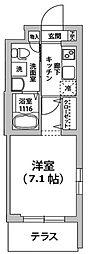 東京都大田区鵜の木1丁目の賃貸マンションの間取り