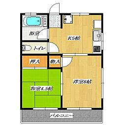 Second SHIMIZU Heights[2階]の間取り