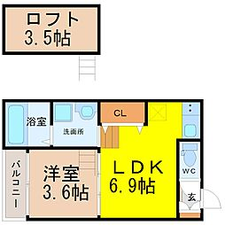 (仮称)鳴海町字京田Bコーポ[2階]の間取り