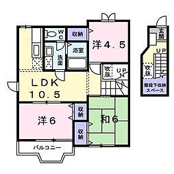 グラン・ソレイユC棟[1階]の間取り