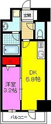 CERNE新町(セルン新町) 7階1DKの間取り