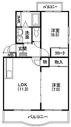 エスポワ−ルマキ[3階]の間取り