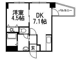 アリュールマルヤマ[3階]の間取り