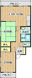 第9摂津グリーンハイツ[2階]の間取り