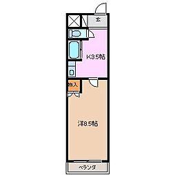 アイルーム亀山山子[3階]の間取り