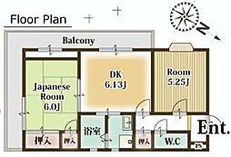 埼玉県富士見市西みずほ台2丁目の賃貸マンションの間取り
