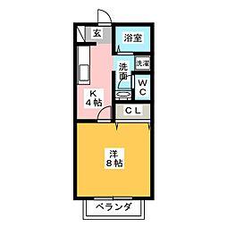 サン・friends村中II[1階]の間取り