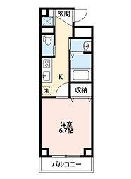 西武新宿線 新所沢駅 徒歩2分の賃貸マンション 1階1Kの間取り