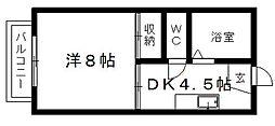 片山ハイツ[203号室]の間取り