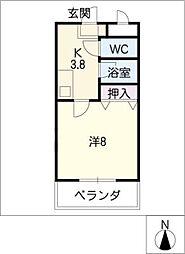メゾンドビジュII[2階]の間取り