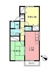 ファミールM[1階]の間取り