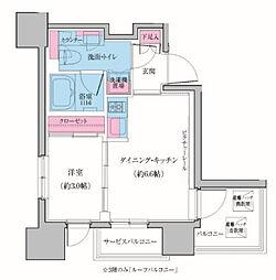東京都大田区雪谷大塚町の賃貸マンションの間取り