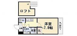 大阪府堺市西区上の賃貸アパートの間取り