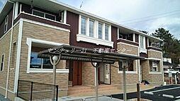 岡山県赤磐市岩田の賃貸アパートの外観