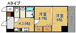 グランパシフィックパークビュー[10階]の間取り