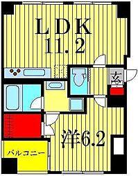 東京都墨田区江東橋5丁目の賃貸マンションの間取り