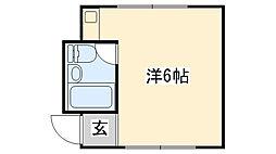 米田マンションI[202号室]の間取り