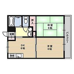 松村ハイツD棟[0102号室]の間取り