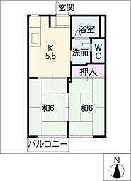 フレグランスシティ A棟[1階]の間取り