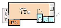 コーポワダ[2階]の間取り